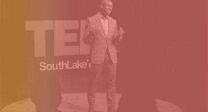 Stillshot of Richard Shola On TEDx Stage